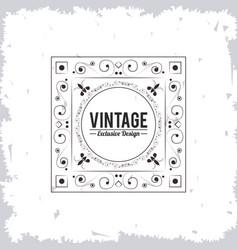 Vintage exclusive design decorative floral pattern vector