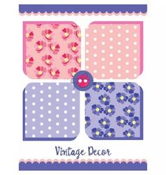Vintage floral decor patterns vector image