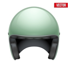 Vintage motorcycle scooter helmet on white vector image