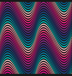 wavy seamless pattern curved lines stripes vector image vector image