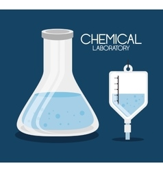 Conical flask and iv bag vector