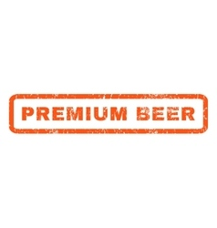 Premium beer rubber stamp vector