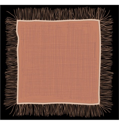 Linen napkin vector image