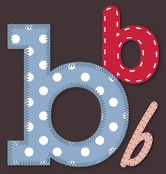 Set of stitched font - Letter B vector image