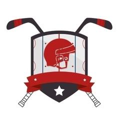 hockey sport emblem icon vector image