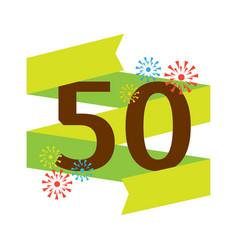 birthday fifties badge banner design flat vector image