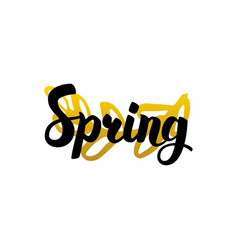 Handwritten lettering spring vector