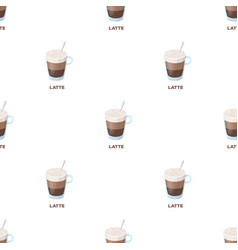 A cup of lattedifferent types of coffee single vector