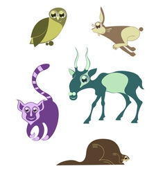cartoon funny animals 7 vector image