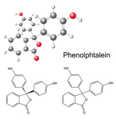 Phenolphthalein molecule - structural formula vector