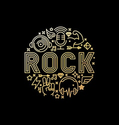 Rock music concept vector