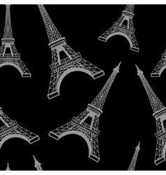 Seamless eiffel tower background pattern vector
