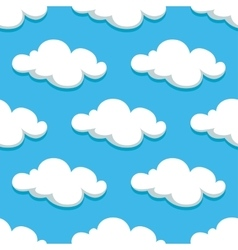 White clouds and sky seamless pattern vector