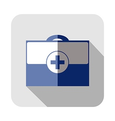 Square icon of medical bag vector