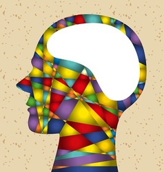 Abstract head with brain vector