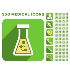 Sperm liquid icon and medical longshadow icon set vector