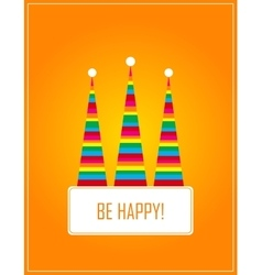 Card with hat  flat vector