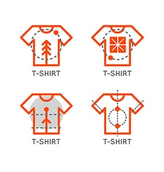 T-shirt logo set online shop logo clothing shop vector