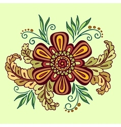 Floral outline calligraphic pattern vector