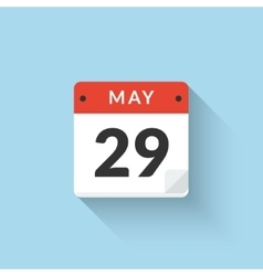 Flat Calendar Icon design May month vector image
