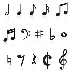 Music Notes Collection vector image