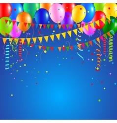 Festive party balloons vector