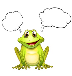 A frog with an empty thought vector image vector image