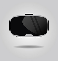 Abstract virtual reality glasses icon on gray vector