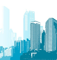 Black and white panorama cities art vector image vector image