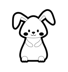 cartoon cute rabbit icon vector image