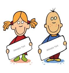 cartoon kids vector image vector image