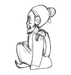 chinese wiseman symbol taoism vector image