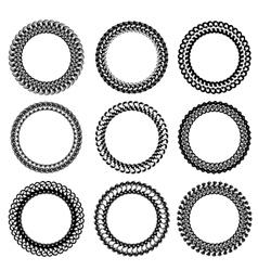 Circle frames vector