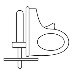 Cordless reciprocating saw icon outline vector