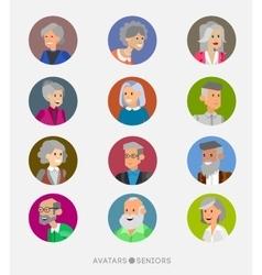 Cute cartoon human avatars set vector image vector image