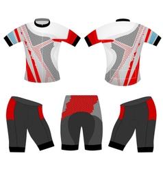 Cycling t shirt vector
