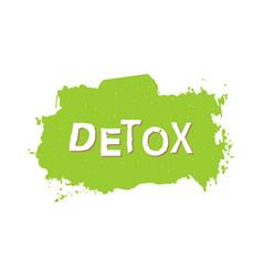 detox healthy food badge vector image vector image