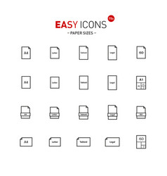 Easy icons 15a papers vector
