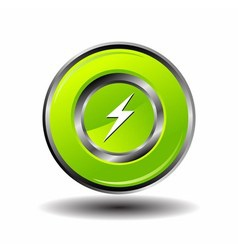 Electricity bolt icon charge button vector