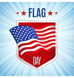 flag day card vector image