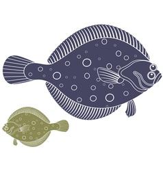 Flounder vector