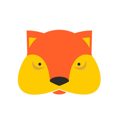 fox face cute she-fox head element for kids design vector image vector image