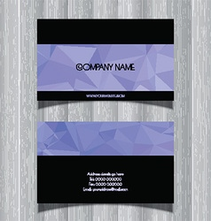 Geometric design business card vector