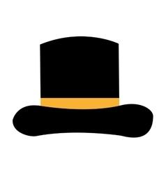 hat ceremony elegant isolated icon vector image
