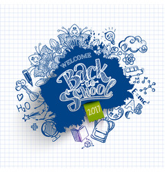 Ink drawn back to school blob vector