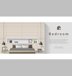 Interior design Modern bedroom background 4 vector image vector image