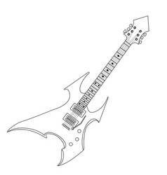 isolated electric guitar vector image vector image