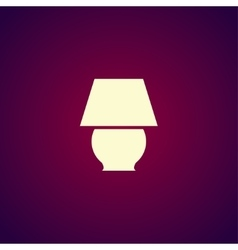 lamp icon Flat design style vector image