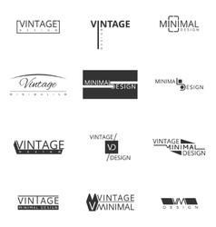 Minimal modern logo design for brand Badges and vector image