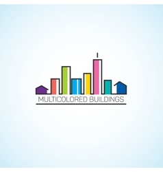 Multicolored buildings vector image